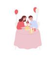 happy family celebrating baby first birthday