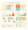 Hunting infographics vector image vector image