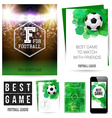Identity design for Your football club Set of vector image vector image