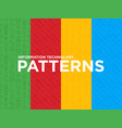 information technology seamless patterns vector image
