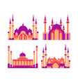 islamic element a mosque collection set vector image