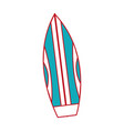 isolated surboard design vector image vector image