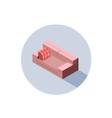 isometric pink sofa seat couch 3d flat interior vector image vector image