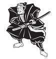 japanese samurai warrior sword vector image vector image