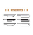 knife cooking vector image vector image
