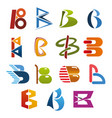 letter b icon for abstract business identity font vector image vector image