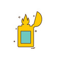 lighter icon design vector image