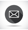 Mail Flat Icon with long Shadow vector image vector image
