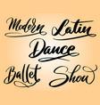 modern dance typography vector image