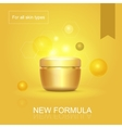 Moisturizing face skin cream advertisement for all vector image vector image