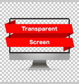 monitor computer mockup isolated screen monitor vector image vector image
