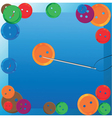 Needle and thread background vector image vector image