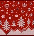 norwegian seamless knitting pattern fair isle vector image