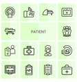 patient icons vector image vector image