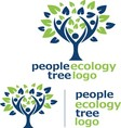 people ecology tree logo 6 vector image vector image