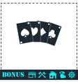 Poker icon flat vector image