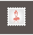Radish stamp Outline vector image vector image