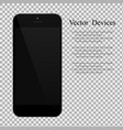 realistic black smartphone with blank screen on vector image vector image