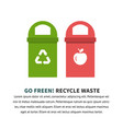 recycle waste bins vector image vector image