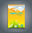 relax summer template vector image vector image