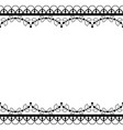 retro lace pattern greeting card wedding vector image