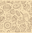 seamless pattern sweets doodle sketch vector image vector image