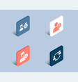 search people user idea and sallary icons user vector image