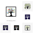 set of colorful tree logo design template luxury vector image vector image