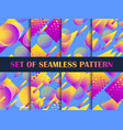 set seamless pattern with colorful liquid vector image vector image