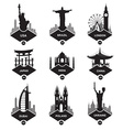 set stickers in different countries vector image vector image