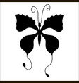 silhouette of cute cartoon butterfly vector image vector image