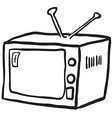 simple black and white retro tv vector image vector image