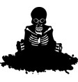 skeleton get out of the grave vector image