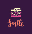smile inspirational poster vector image