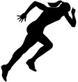 start girl runner sprint vector image vector image