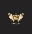 th letter initial with royal luxury logo template vector image vector image