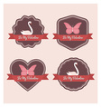 valentine labels vector image vector image