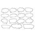 various shapes speech bubbles vector image