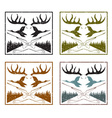 vintage grunge labels set with hunting theme vector image vector image