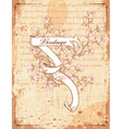 vintage scroll with floral vector image vector image