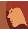Beauty girl face vector image