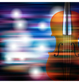abstract blue white music background with violin vector image vector image