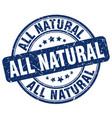 all natural blue grunge stamp