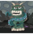 Angry cartoon monster vector image vector image