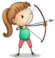 archer girl vector image
