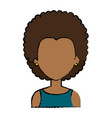 beautiful black woman avatar character vector image vector image