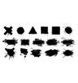 black grunge splashes stencil with frame graffiti vector image