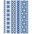 Blue embroidery borders and frames vector image vector image