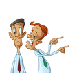 Business men gossiping vector image vector image