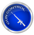 BUTTON GUN CONTROL vector image